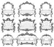 Königliche Möbel Im Barocken Luxusinnenraum Stockbild - Bild: 40345593