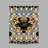Barocke Mode-dekorativer Design-Poster, Luxusbroschüren, Verein-Partei-Flieger, abstrakter Renaissance-Hintergrund Stockfotos