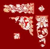Barocke rote Goldc$clip-kunst. Lizenzfreies Stockfoto
