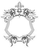 Barocke Schild-Zeichnung lizenzfreie abbildung