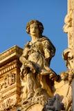 Barocke Statue in Lecce, Italien stockbilder