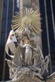 Barocke Statue von der Wien-Kathedrale Lizenzfreies Stockbild