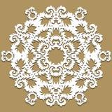 Barocke Verzierung des Vektors im viktorianischen Stil Aufwändiges Element für Design Toolkit für Designer Traditioneller Blumend Lizenzfreie Stockfotografie