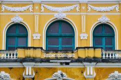 Barocker Altbauhintergrund Stockbild