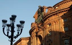 Barocker Carignano Palast in Turin, Italien lizenzfreie stockbilder