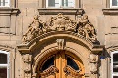 Barocker Eingang - bayerisches Rokokos architecrure Lizenzfreie Stockbilder