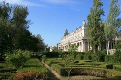 Barocker Flügel und Garten des Queluz Staatsangehörig-Palastes Lizenzfreie Stockfotos