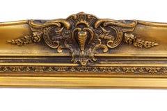 Barocker goldener Bilderrahmen Stockfoto