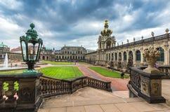 Barocker Palast Zwinger - Dresden, Deutschland stockfotografie