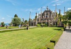 Barocker Parkgarten von Insel Bella - isola Bella von See Maggiore in Italien stockbild
