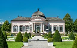 Barocker Pavillon im Garten von Melk-Abtei, Österreich Stockfotos