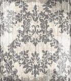 Barocker viktorianischer Vektor Muster der Weinlese Blumenverzierungs-Dekoration Schmutz-Beschaffenheitsentwurf des Blattes Rolle stock abbildung