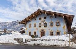 Barockes Bauernhaus Landhaus Schwarzinger St. Johann in Tirol stockfoto