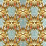 Barockes Blumen-nahtloses Muster 3d Vektor belaubtes aufwändiges backgrou Stockfotos