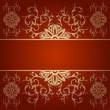 Barockes Blumenvektor-Hintergrundrot Lizenzfreie Stockbilder