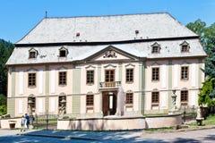 Barockes Chateau Potstejn von 1746-1755, Ost-Böhmen, Tschechische Republik Lizenzfreies Stockfoto