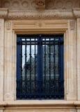 Barockes Fenster der österreichischen Art, Luxemburg stockfotos