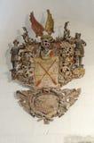 Barockes hölzernes Schnitzen, Wappen Lizenzfreie Stockbilder