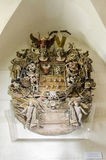 Barockes hölzernes Schnitzen, Wappen Lizenzfreies Stockbild