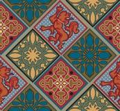 Barockes königliches Fliesen-Muster Lizenzfreie Stockfotografie