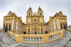 Barockes Kloster Melk Abbey Benedictine Lizenzfreies Stockfoto