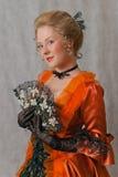 Barockes Mädchen Lizenzfreies Stockfoto