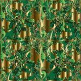 Barockes nahtloses Muster der Weinlese 3d Vektor Ornamental interesti vektor abbildung