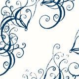 Barockes nahtloses Muster des Vektors Lizenzfreies Stockbild