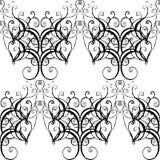 Barockes nahtloses Muster des Vektors lizenzfreie abbildung
