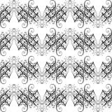 Barockes nahtloses Muster des Vektors Stockfotografie