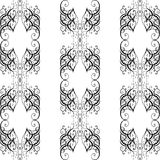 Barockes nahtloses Muster des Vektors Stockfotos