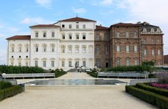 Barockes Royal Palace und Garten in Piedmont, Italien Lizenzfreie Stockfotografie