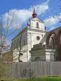 Barockkyrka av det heliga korset, Sazava kloster, Tjeckien, Europa Royaltyfri Foto