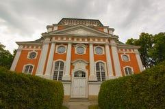 Barockkyrka - Schlosskirchen Buch - i Alt Buch Berlin Fotografering för Bildbyråer