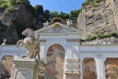 Barockt bad för hästar i Salzburg, Österrike, Europa Royaltyfria Bilder