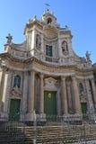 barockt catania kyrkligt glänsande Royaltyfria Bilder