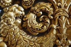 Barockt guld- lejon arkivfoton
