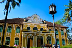 Barockt museum för traditionell medicin för arkitektur Royaltyfri Foto