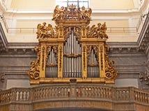 barockt organ Fotografering för Bildbyråer
