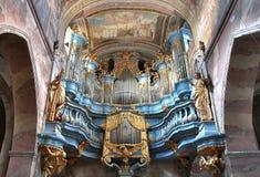 barockt organ arkivbild