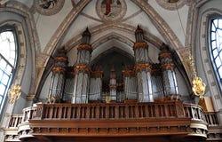 Barockt organ royaltyfri bild