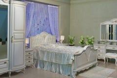 Barockt sovrum arkivfoton