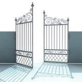 Barockt staket för öppet metallstål Arkivbild