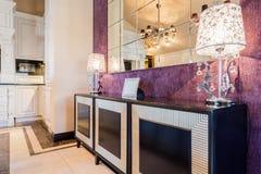 Barockt stilmöblemang inom dyrt hus Royaltyfri Fotografi