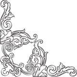 Barockt trevligt hörn royaltyfri illustrationer
