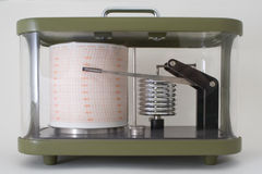 Barograph - Hochdruck! Stockfotos