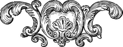 Barok architectueal detail stock illustratie