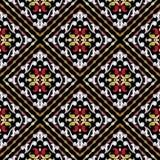 Barok bloemen naadloos patroon Geometrische abstracte vector backg vector illustratie