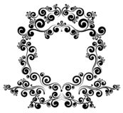 Barok het monogram bloemenornament van de kadergrens royalty-vrije illustratie