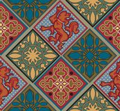 Barok Koninklijk Tegelpatroon Royalty-vrije Stock Fotografie